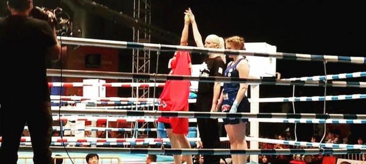 Sema Çelik, Tayland'da yapılan müsabakada Muay Thai Dünya Şampiyonu oldu