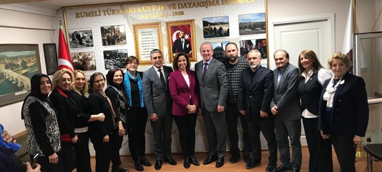 İyi Parti Belediye Başkan Adayı İlay Aksoy'ın ziyareti
