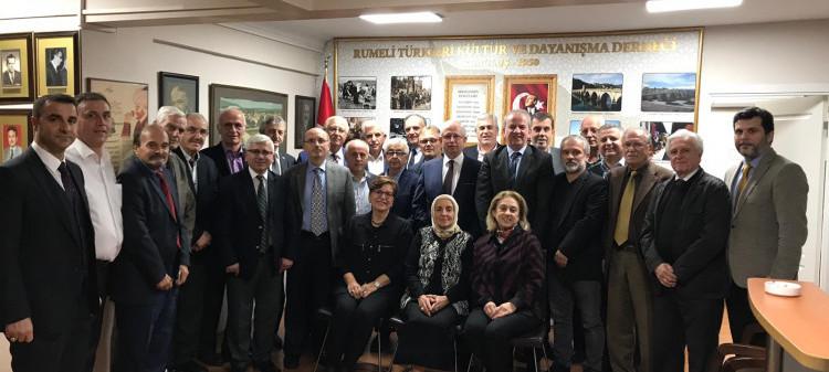 Rumeli Türkleri Vakfının Başkan ve Yöneticileri ile Derneğimizi Ziyareti