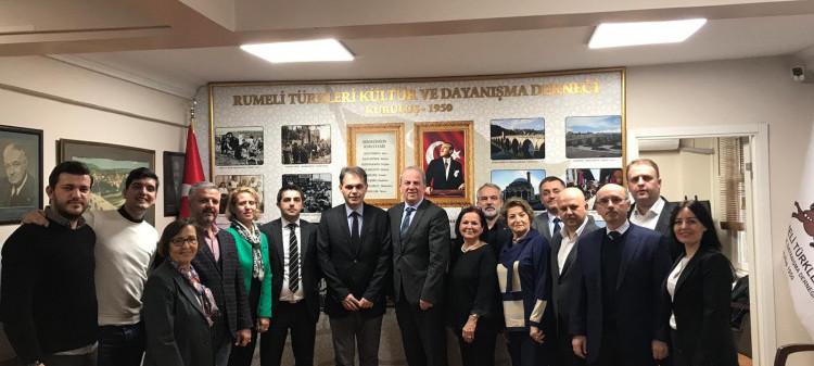 Makedonya Başkonsolosu Sn. Alexandro Hristov, Vekili ve Sn. Sevim Gültekin'in Derneğimize Ziyareti